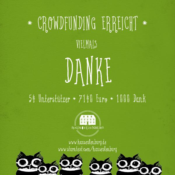 Haus Eulenburg Crowdfunding Erfolg