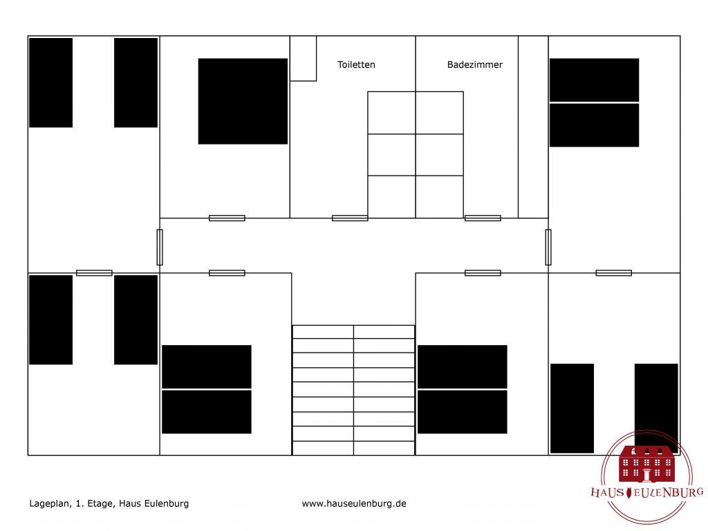 Haus Eulenburg Lageplan Etage 1